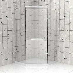 一太 五角型無框淋浴拉門-皇冠5024系列(寬100-100cm x 高200cm)