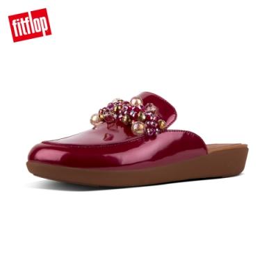 FitFlop SERENE DECO PATENT MULES時尚穆勒鞋