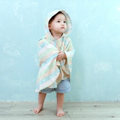 【喜福 HiBOU 】日本雙層棉紗∥Lite小斗篷快乾連帽浴巾(任選)