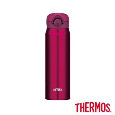THERMOS膳魔師不鏽鋼真空輕巧變保溫瓶0.6L(JNR-600)-WNR(酒紅)