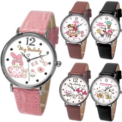 Sanrio三麗鷗簡約時尚皮帶手錶(10款任選)