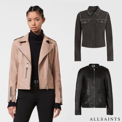 [時時樂限定] ALLSAINTS 經典魅力男女羊皮皮衣均價9990(原價19700起)