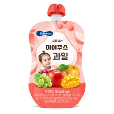 韓國 【BEBECOOK】 嬰幼兒果汁2入組(綜合水果)