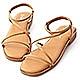 D+AF 夏日漫遊.棉花糖軟墊平底涼鞋*棕 product thumbnail 1