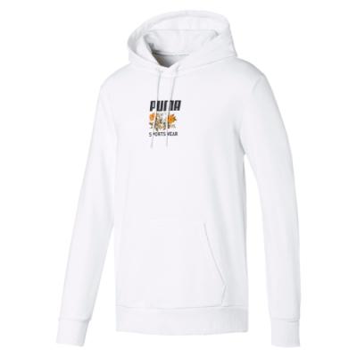 PUMA-男性流行系列Trend長厚連帽T恤-白色-歐規
