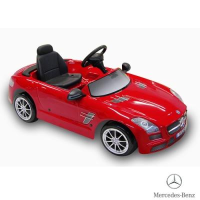 【BENZ賓士】全台獨家 充電式 SLS AMG 6V 電動兒童乘座車-賓士(原車縮小比例)