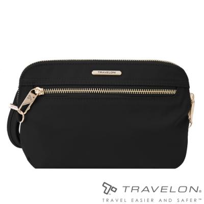 Travelon美國防盜包 都會小資女最愛實用型手持側肩兩用包(TL-43202黑)