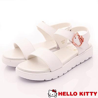 Hello Kitty-輕量休閒涼鞋款-EI18178白(女段)