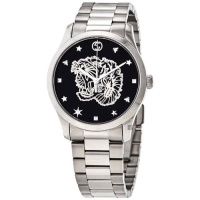 GUCCI古馳 G-Timeless 獅王浮雕手錶-38mm  YA1264125