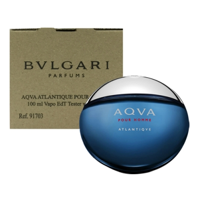 *BVLGARI 寶格麗活力勁藍水能量男性淡香水 100ml(tester/環保盒包裝/試用品)