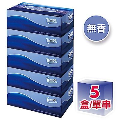 Tempo三層盒裝面紙-天然無香 86抽x5盒/串