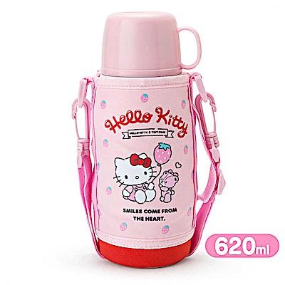 Sanrio HELLO KITTY兩用不鏽鋼水壺(草莓氣球)