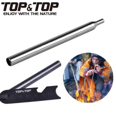 【韓國TOP&TOP】戶外求生組合 打火石 打火棒 吹火棒