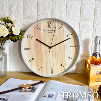 TROMSO紐約時代靜音時鐘-北歐木質
