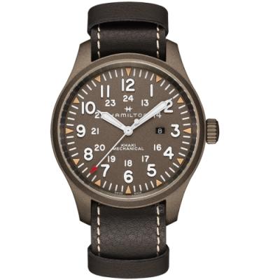 Hamilton漢米爾頓卡其野戰MECHANICAL軍事手錶(H69829560)