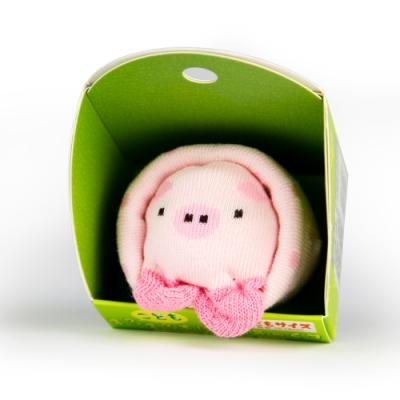 【SUKENO】超萌動物園造型兒童襪 - 粉紅小豬