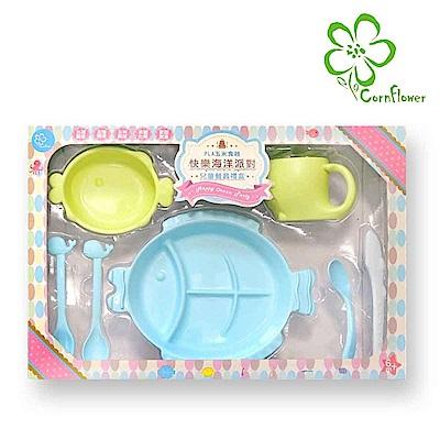 Cornflower 兒童餐具禮盒7入組-顏色隨機 (無毒玉米食器)