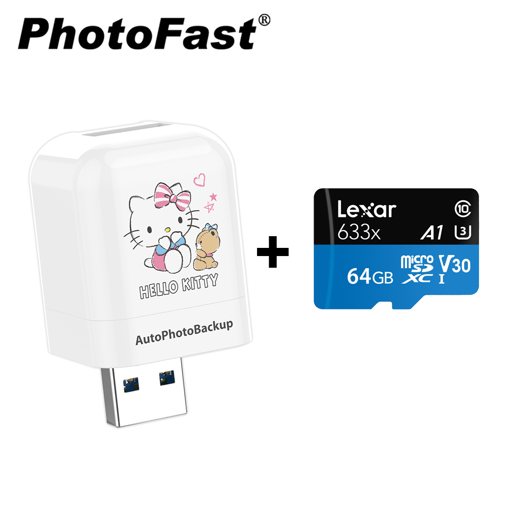 【正版授權】Photofast x Hello Kitty PhotoCube備份方塊 [贈] 記憶卡64GB product image 1