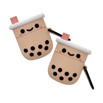 AirPods 1 2 保護套 可愛 立體 珍珠奶茶 造型 矽膠 藍牙耳機保護套