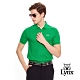 【Lynx Golf】男款經典配色Logo繡字短袖POLO衫-綠色 product thumbnail 2