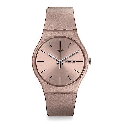 Swatch PINKBAYANG 閃耀流沙手錶