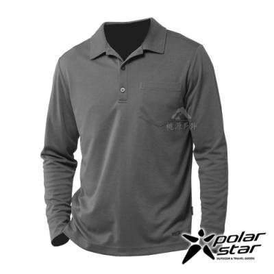 【PolarStar】男 吸排抗UV POLO衫『暗灰』P20253