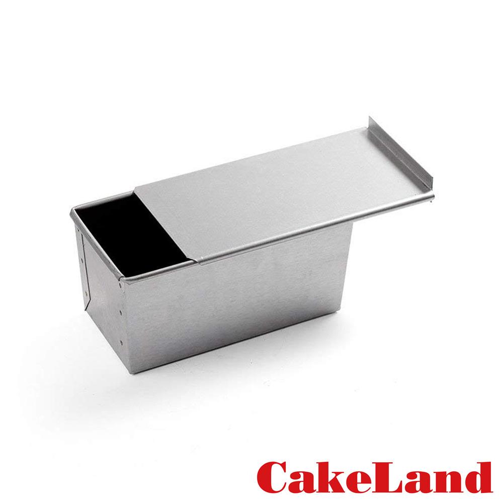 日本CakeLand 1斤附蓋長方型吐司烤模-日本製