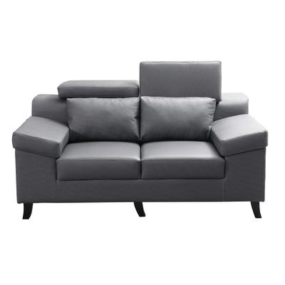 MUNA 3094型灰色貓抓皮雙人座沙發 168X92X90cm