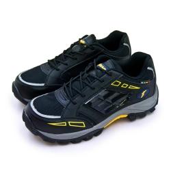 GOODYEAR 固特異透氣鋼頭防護認證安全工作鞋 風暴系列 黑灰黃 83920