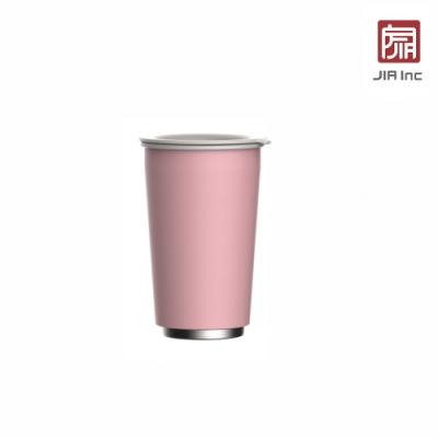 JIA Inc. 品家家品 虹彩鋼 雙層琺瑯塗層隨行杯350ml-粉紅