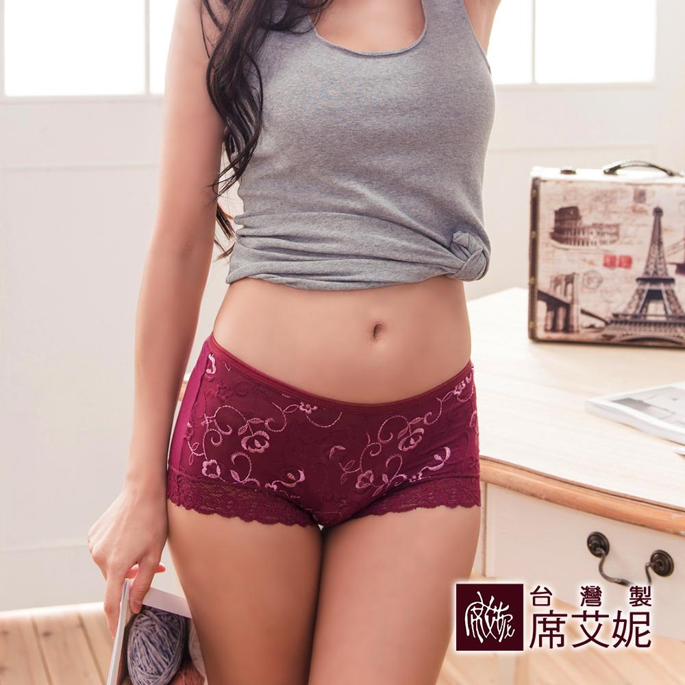 席艾妮SHIANEY 台灣製造(5件組)莫代爾 中腰蕾絲內褲 精緻刺繡蕾絲 浪漫舒適