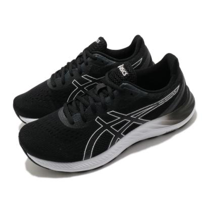 Asics 慢跑鞋 Gel-Excite 8 4E 超寬楦 男鞋 亞瑟士 路跑 緩震 輕量 亞瑟膠 黑 白 1011B037002