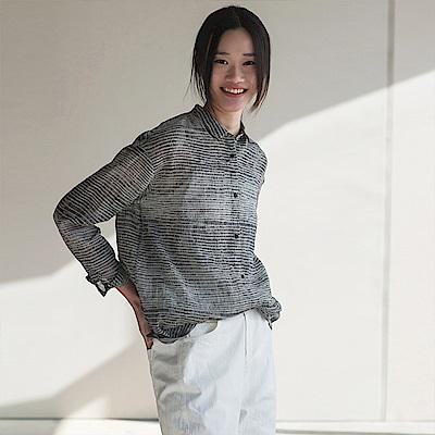 旅途原品_去來_原創設計棉麻藝術印花襯衫-花色