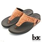 【bac】舒適樂活 多密度大底時尚壓紋夾腳鞋-棕色