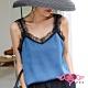 小可愛 涼夏女孩 蕾絲肩帶長版素色內搭背心內衣(黑藍M~XL) AngelHoney天使霓裳 product thumbnail 1