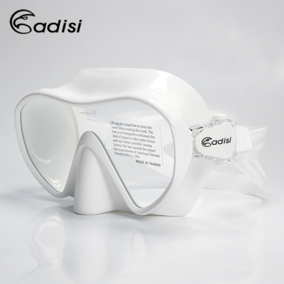 ADISI WM19 單面鏡 白色(蛙鏡、浮潛、潛水、戲水、泳鏡、潛水面鏡)