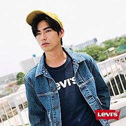 Levis 男款 大學T 金屬銀Logo