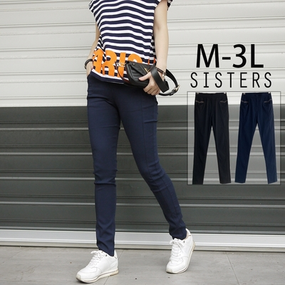 SISTERS 彈力輕量休閒緊身窄管內搭長褲/M-3L共二色