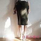 日系小媽咪孕婦裝-韓製孕婦褲~內刷毛素面百搭窄裙 (共四色)