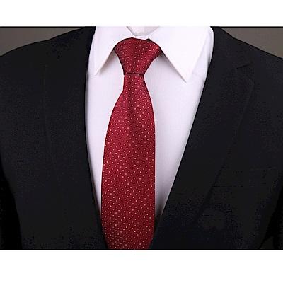 拉福   點點8CM寬版領帶手打領帶