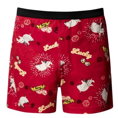 DADADO-牛轉好運到 110-130男童內褲(紅) 品牌推薦-舒適寬鬆