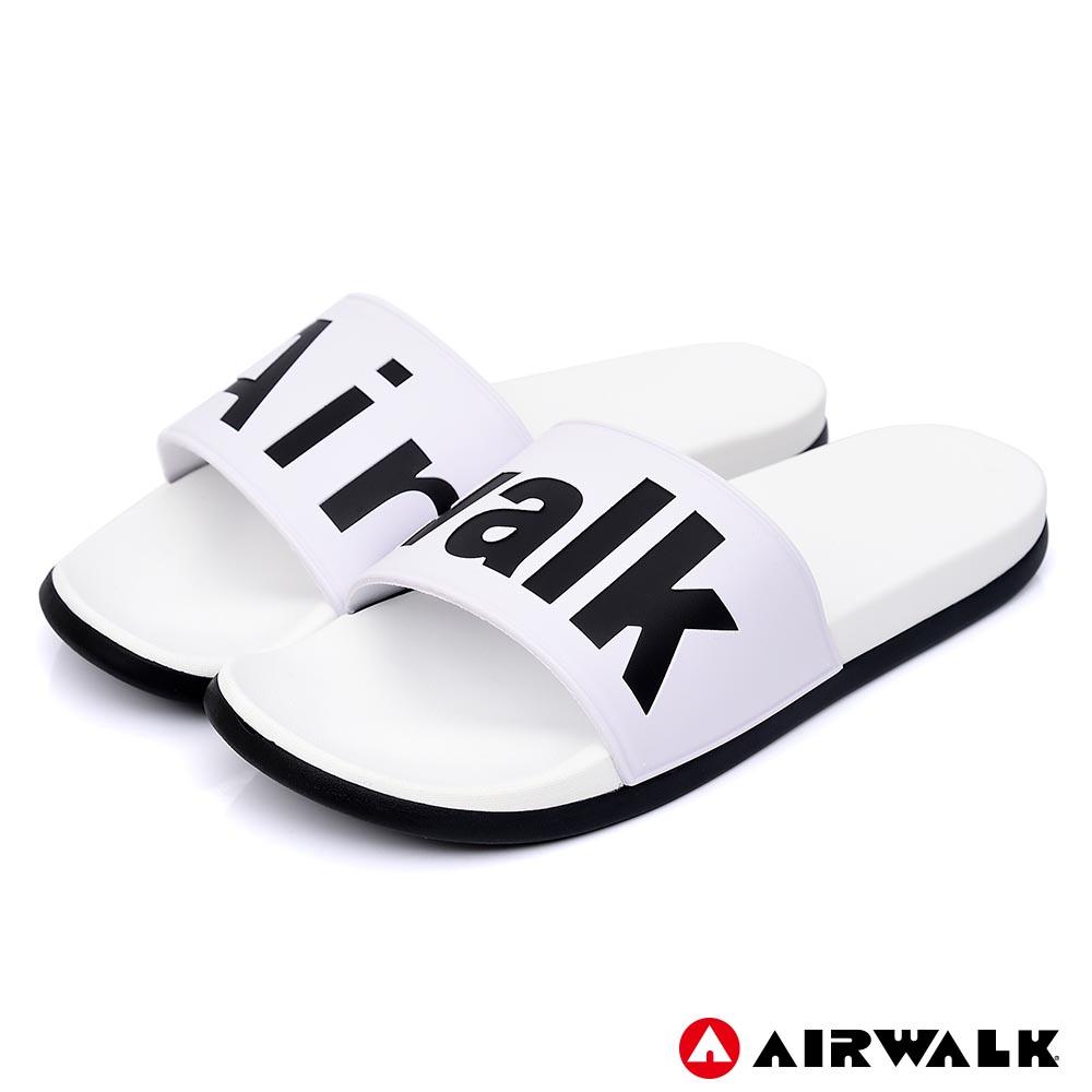 【AIRWALK】街頭潮流運動拖鞋-白色