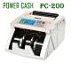 POWER CASH 頂級商務型液晶數位 台幣 /人民幣 防偽點/ 驗鈔機 PC-200 product thumbnail 1