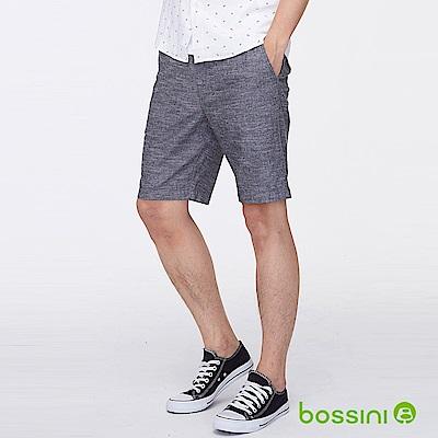 bossini男裝-素色時尚短褲黑