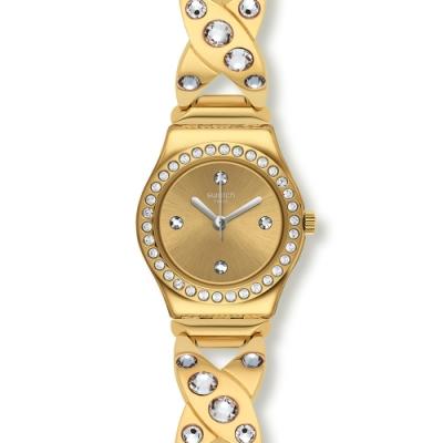 Swatch 金屬系列手錶 GOLDY HUG-25mm