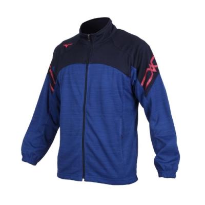 MIZUNO 男針織運動外套-立領外套 慢跑 路跑 美津濃 抗UV 吸汗速乾 32TC053481 藍丈青玫紅