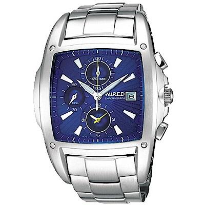 WIRED 「光」空間計時碼錶-深藍/45mm