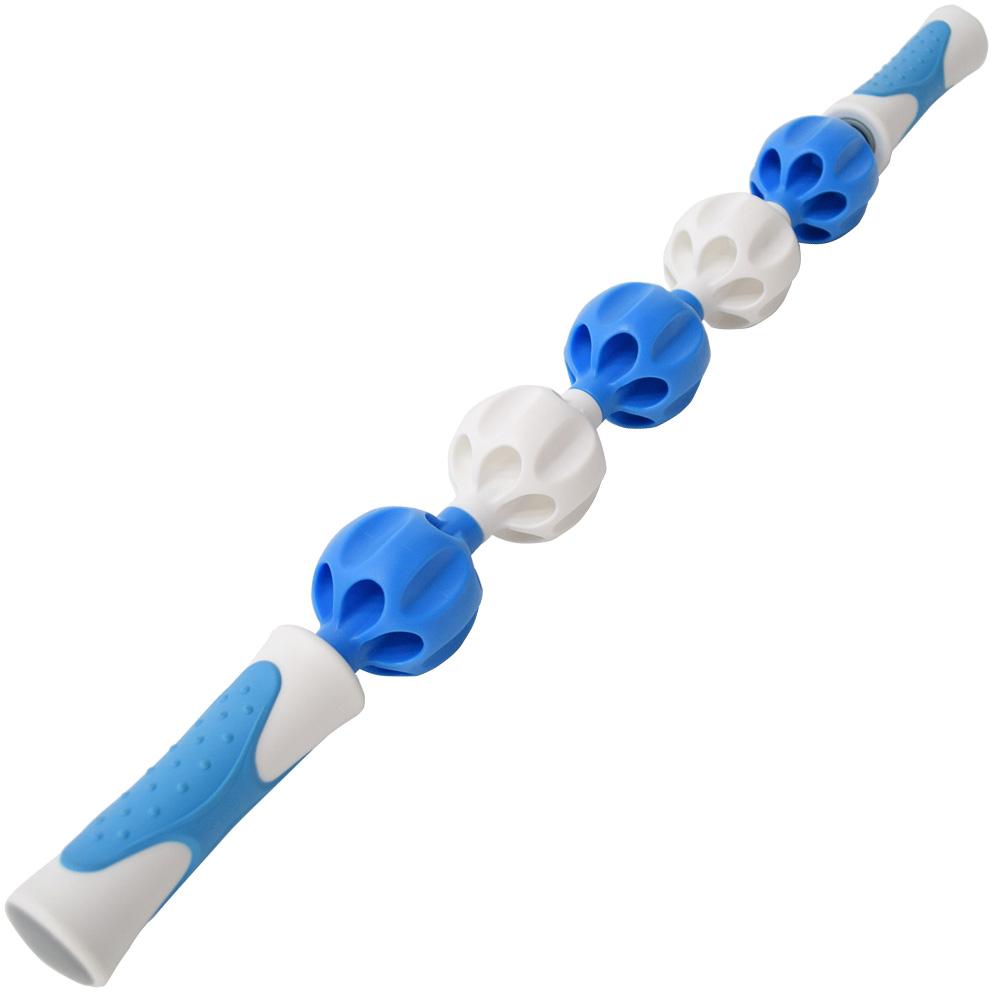 台灣製造瑜珈滾輪棒 指壓瑜珈棒 按摩棒-(快)