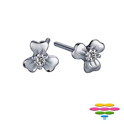 彩糖鑽工坊 日本10K鑽石耳環 花瓣耳環 花語系列
