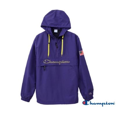 Champion AS Logo刺繡機能連帽上衣(紫色)